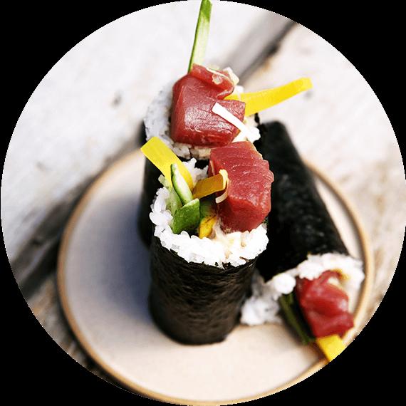 Handroll z tuńczykiem