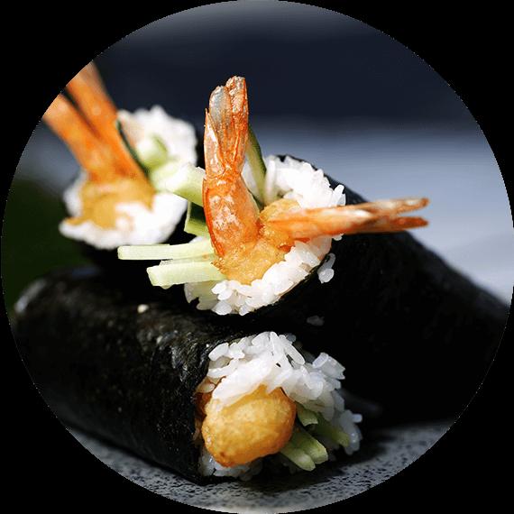 Handroll - tempura z krewetką